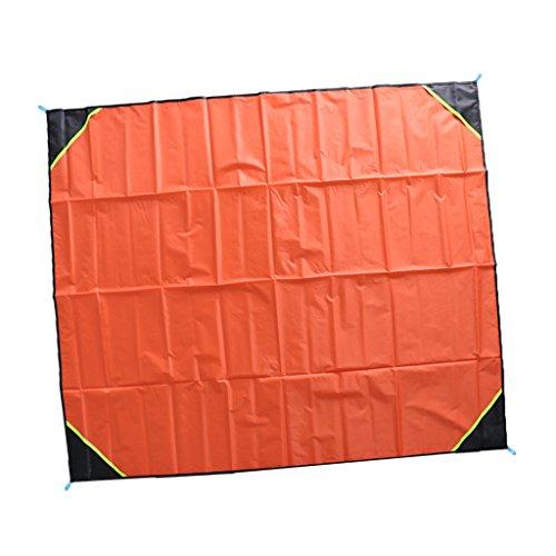 MagiDeal Tapis de Sol Imperméable à L'eau pour 2 Personnes Accessoire Camping Plage Nappe Pique-nique - Orange, 180x140cm