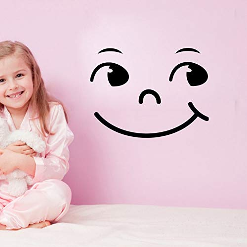 TYOLOMZ Cartoon Smiley Gezicht Muursticker Vinyl Muurstickers Kast voor Kinderen Kamers Decoratie Stickers Home Decor Verwijderbaar Behang