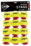 Dunlop Sports Stage 3 Transition Tennis Ball, 12-Ball Polybag, Red/Yellow