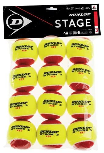 Dunlop Tennisball Stage 3 rot - 12 Ball polybag