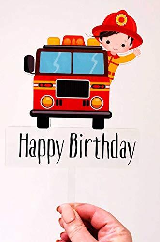 Brandweerman Verjaardagstaart Topper Brandweerman Cake Party Decoratie Brandweerman Brandweerman Brandweerman Brandweerwagen Brandweerman Taart Topper Decoratie Australië