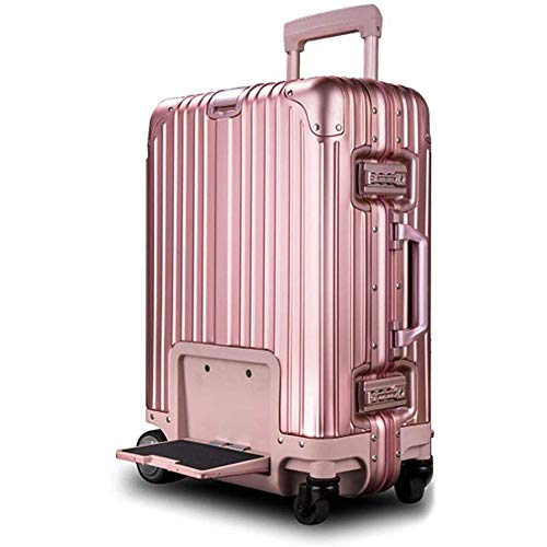 Sale!! WSJTT Intelligent Remote Control Follow Trolley Luggage,20-inch Riding Suitcase Fixed-Speed C...