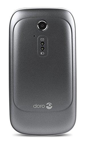 Doro 6520 Flip Handy für ältere Menschen mit großem Display, großen Sprechnummerntasten & Assistenzknopf (Graphit/Weiß)