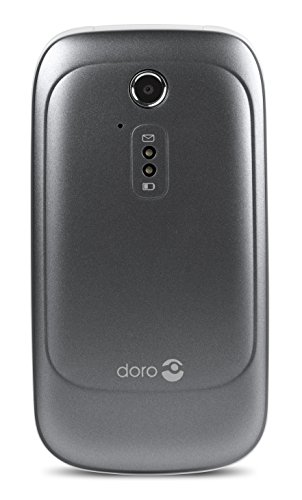 Doro 6520 Unlocked SIM-Free Flip Mobile Phone for Elderly with Large Screen, Big Talking Number Keys and Assistance Button (Graphite/White)