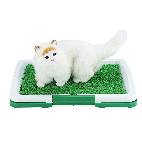KSTE Perro for IR al baño for Mascotas Estera de la Hierba Pad con Malla + Colección Bandeja Inicio Interior del Lavabo WC Formación Pee
