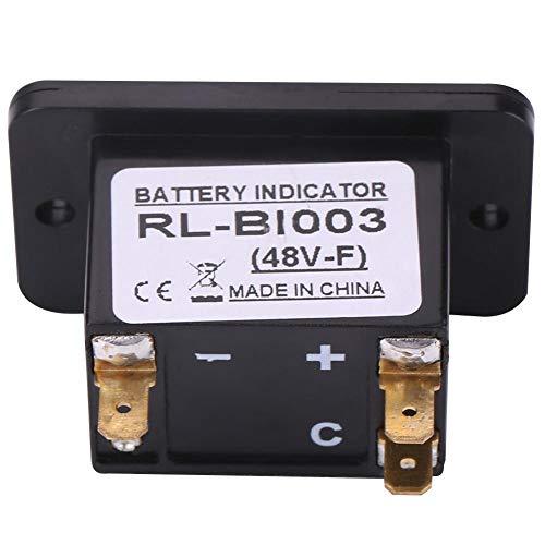 Medidor de batería de plástico con gráfico de barras LED de 10 segmentos, indicador de batería, para advertencia de carga baja para carrito de golf(BI003-48V, 12)