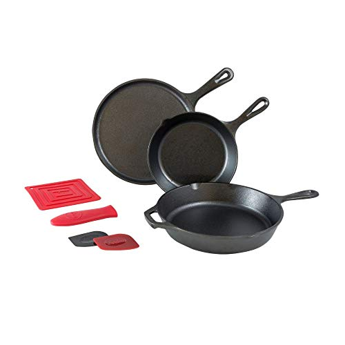 Lodge L6SPB41 Essential Skillet Set, 7-Piece, Black