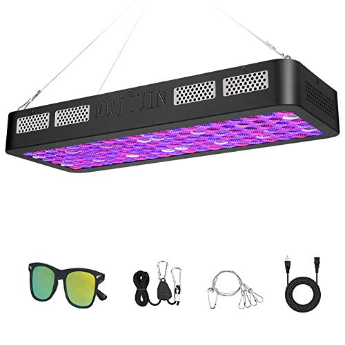 MRJIUIN Newest 1200W LED Plant Grow Light,Double Switch and Dual Chips Full Spectrum Plant Light for Indoor Plants Veg/Flower (10W LEDs 120Pcs)