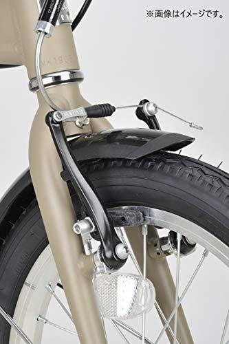キャプテンスタッグ(CAPTAINSTAG)AL16インチ折りたたみ自転車アルミフレーム[重量約10.5kg/ハンドル高さ調整/前後V型ブレーキ/SHIMANOパワーモジュレーター/高ギア比設定/前後泥よけ]標準装備AL-FDB161サックスモンテYG-1212