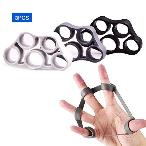 AUTUWT Fingertrainer 3er-Set,Upgrade Durchführen Handtrainer Unterarm Trainingsgerät, Perfekt für Therapie, Widerherstellung, Extensortraining, Hand und-Vorderarmkraft
