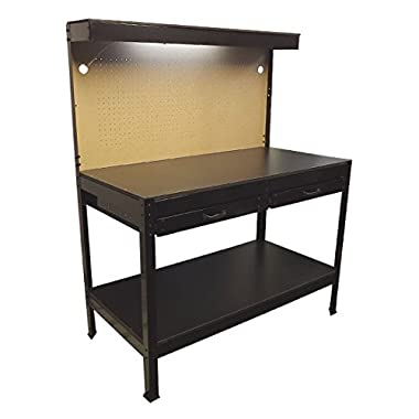 Multipurpose Workbench Cabinet Light Garage Workstation Tool Holder Storage