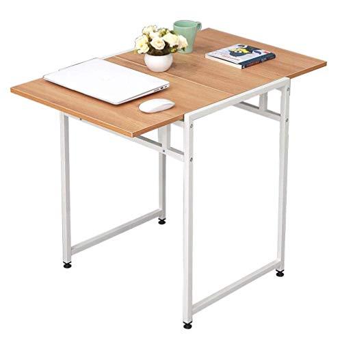 WTT klaptafel, minimalistisch, moderne telescopische tafel voor 2 personen, multifunctionele eettafel, klein bureau, vuurvast, krasbestendig, kleur: zwart