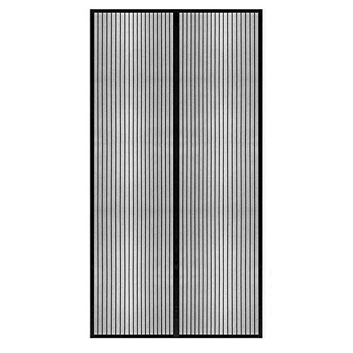 GOUTUI Magnetic Door Screen 110x220cm Mesh Curtain Portable Screen Door Easy to Install without Drilling for Kitchen/Bedroom/Air Conditioner Room, Black A