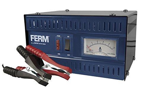 FERM Chargeur de batterie / dmarreur pour voiture - 6V / 12V - Max. 75Ah - 5A, avec cbles de serrage de batterie