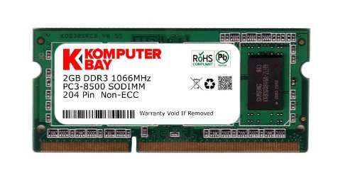 Komputerbay 2GB DDR3 SODIMM (204 pin) 1066Mhz PC3 8500 (7-7-7-20)