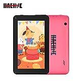 Haehne 7' Tablet PC - Google Android 9.0 HD Tablet, Quad Core 1G RAM 16GB ROM, Cámaras Duales, WiFi, Bluetooth, Rosado