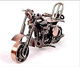 Décoration de Moto de modèle, Bronze rétro Classique Fait Main Fer à Repasser Moto fabriqué à la Main en Fer pour Moto et Collection Art Sculpture Moto pour Home Decor, Bronze, M36-1