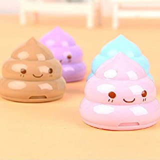 GOUWEI Kawaii Shit Pencil Sharpener Shape Cutter Knife Double Orifice Double Pole Piece Promotional ity Gift Stationery