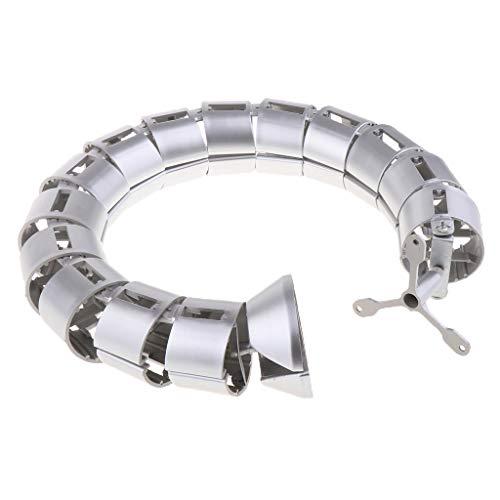 Preisvergleich Produktbild IPOTCH Spiralkabel,  4 mm Außendurchmesser,  PE Spiralkabel,  Draht Wickelschlauch,  Organizer,  Desktop PC Management Cord - Silber