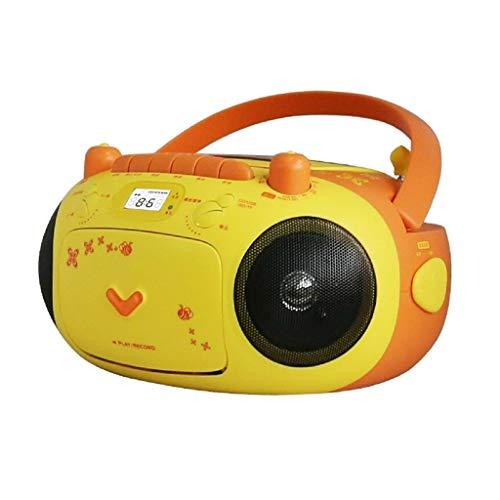 xutu Lectores de CD Radio portátil de Boombox CD Player MP3 Reproductor de MP3 con Radio FM USB Reproducción Cinta para el hogar Tapeo All-In-One Radio con Cassette Máquina de Aprendizaje para niños