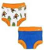 Ez Undeez Bambini WC Formazione Pantaloni con Fodera Imbottita per Ragazzi e Ragazze (2 Anni, Robots-Blue Solid)