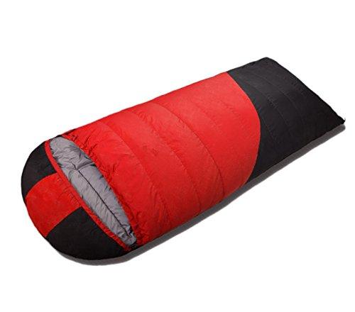Enveloppe blanc Duvet de canard Sac de couchage Four Seasons étanche Camping Portable 210 * 80cm , red , 600g