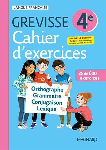 Cahier Grevisse - Français - 4e - Edition 2021