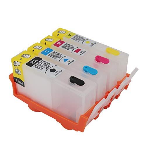 WSCHENG 564 para HP564 Cartucho de Tinta Recargable para HP 564 XL para HP 5510 5515 5520 5514 C309A C310A C410B 6000 6500 7000 con Chips de Arco