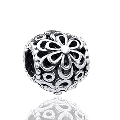 MATERIA gioielli 925 argento perline fiori takasugi Element vecchissimo per European perline bracciali a 4,4 mm 1520#