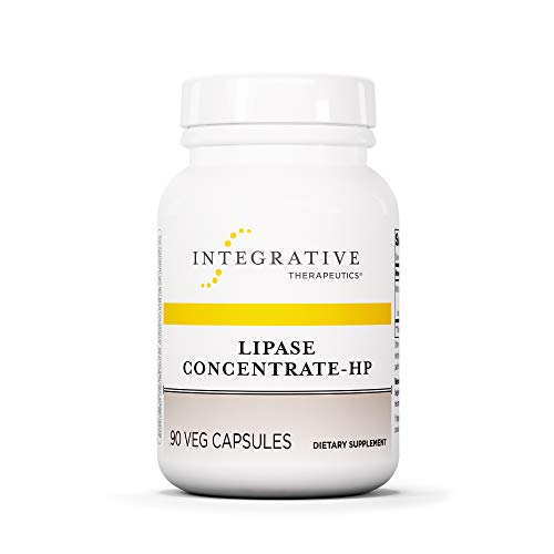 Integrative Therapeutics - Lipase Concentrate-HP – Fat Digestion* Enzyme – Keto and Paleo Friendly – Ideal for Diet High in Fat - Vegan - Vegetable Capsules - 90 Count