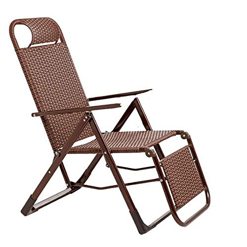 Patio Lounge Chairs Outdoor Rattan Zero Gravity Chairs for 500lbs, Indoor&Outdoor Adjustable Recliner with Steel Frame Patio Folding Relining Chaise Lounge Recliner Chair