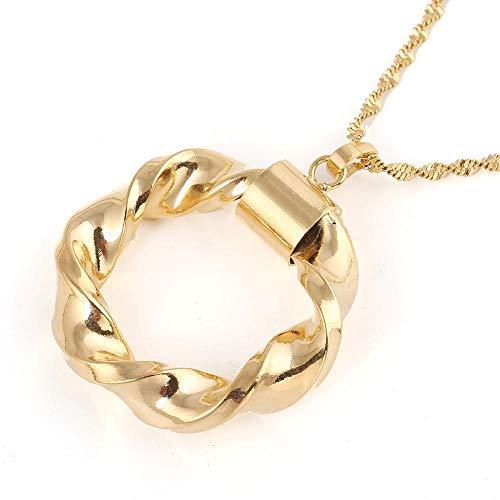 YHHZW Collar de color dorado redondo africano collar para Israel Sudán árabe Oriente Medio joyería de las mujeres