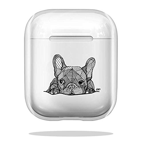 Case Cover French Bulldog Puppy Compatible with Airpod Pro Airpods Charm Bumper Drop