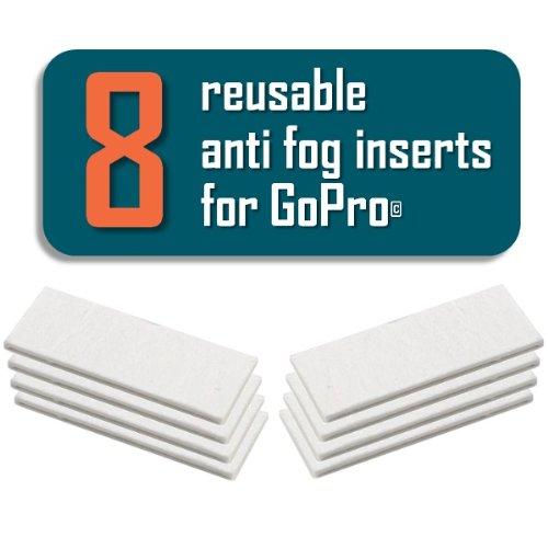 8 Stück Antibeschlag Einsätze Pads Anti-Fog Inserts für GoPro HERO4 HERO3 HERO3+ HERO