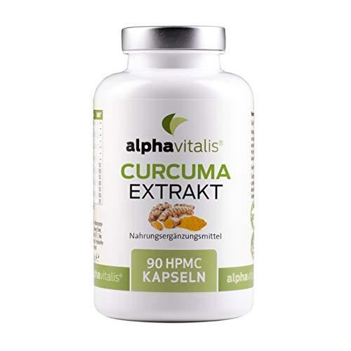 Curcuma Extrakt Kapseln hochdosiert (95% Extrakt) - mit Curcuma Pulver & Piperin - Curcumin EINER Kapsel entspricht ca. 10.000 mg Kurkuma