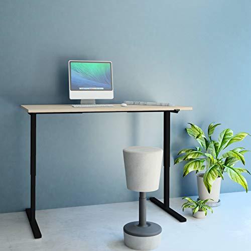 Profi elektrisch höhenverstellbar Schreibtisch Easy 180x80cm Motortisch LINAK, Gestellfarbe:Schwarz