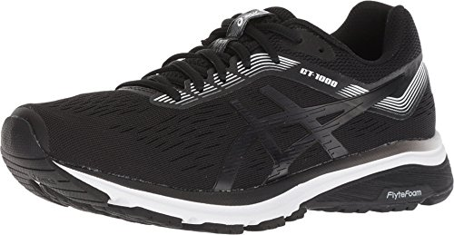 ASICS Women's GT-1000 7 Running Shoes, 11M, Black/White