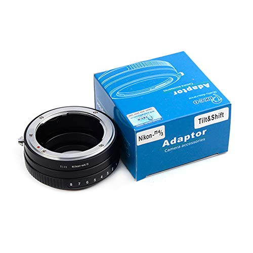 Pixco Adaptador de lente inclinable para objetivo Nikon a Micro Cuatro Tercios 4/3 Panasonic GX9 GF10 GH5S G9 GX850 GX800 Olympus E-M1X E-PL9 E-M10 III E-M1 II E-PL8