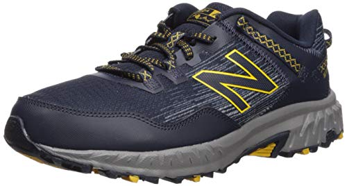 New Balance Men's 410v6 Cushioning Trail Running Shoe, Eclipse/Vintage Indigo/Sunflower, 12 D US