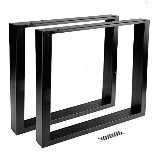 8x8 cm -N/ürnberg 105 cm 2x Tischbein Tischfu/ß Edelstahl quadratisch