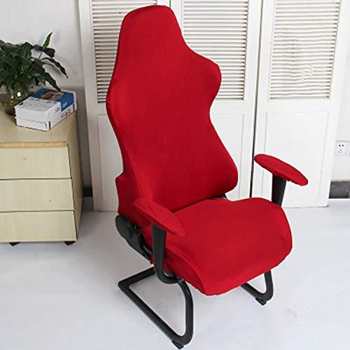 Cicony Fundas para sillas de oficina, suaves, modernas, extraíbles, de poliéster, para juegos de ordenador, decoración de Spandex, sillones lavables, protección elástica (vino rojo)