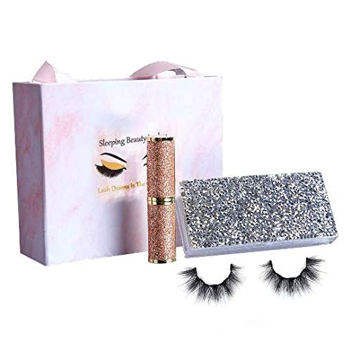 Magnetische Wimpern Set Künstliche Wimpern Mink Lashes Natural 3D mit Magnetischer Eyeliner und Luxury Box (Sara)