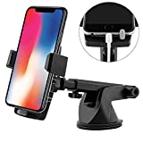 Emmabin Phone Holder for Car, Phone Mount Universal Windshield Car Mount Auto Suction