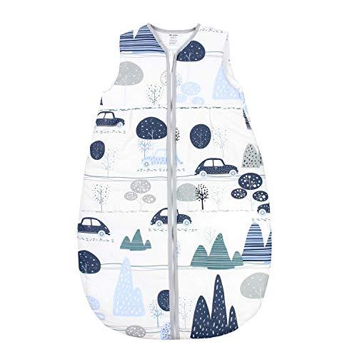TupTam Baby Ganzjahres Schlafsack ohne Ärmel Wattiert, Farbe: Wald/Beige, Größe: 92-98