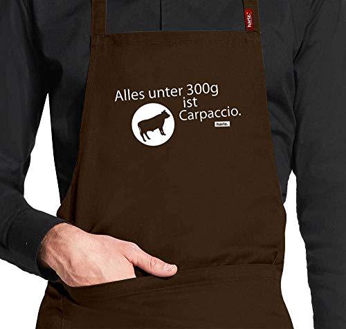 HARIZ Grillschürze Koch-Schürze Alles Unter 300g Ist Carpaccio Grillen Sprüche Plus Geschenkkarte Braun One Size