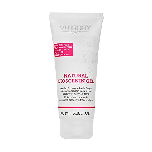 Vitabay Natural Diosgenin Gel (100 ml) • Vaginal Creme mit 64% Diosgenin & 80% Yamswurzel Extrakt • Extra stark, Perfekt Geeignet in der Menopause