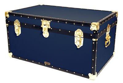 Mossman Original STORER Trunk Wood Storage Box Chest Steamer Case Furniture (Blue)