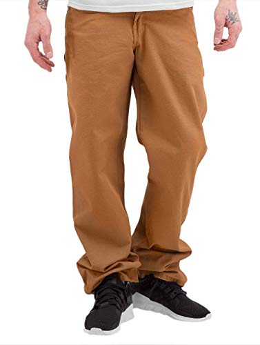 Dickies Men's Relaxed Fit Straight-Leg Duck Carpenter Jean, Brown Duck, 34W x 32L