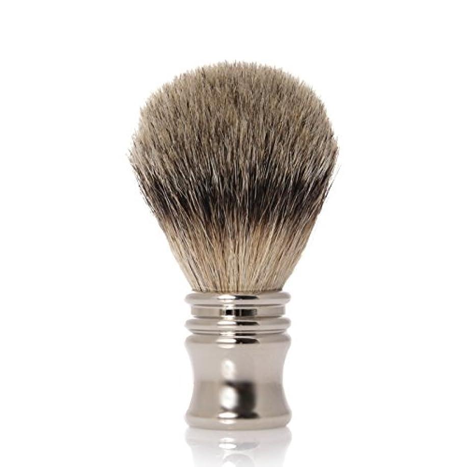 GOLDDACHS Shaving brush, Finest Badger, chrome plated metal