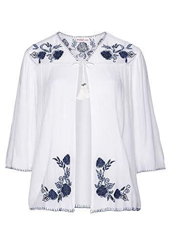 Sheego - Damen Blusenjacke mit Stickereien Größe 40/42 NEU